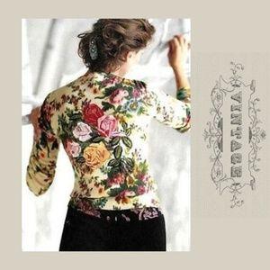 ANTHRO CHARLOTTE TARANTIOLA Vintage Cardigan M
